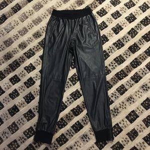 BCBG Sugi Faux-Leather Jogger Pant